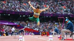 Kelly Cartwright of Australia in action in the Long Jump - F42/44 final. She went on to break the world record and take the gold medal.