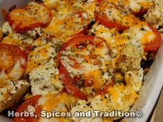 Herbs, Spices and Tradition: LOW FAT VEGETABLE BAKE This looks incredible, great for a meal or a side dish. www.herbsspiceandtradition.com