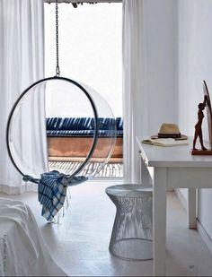 eero aarnio chair + blue hues