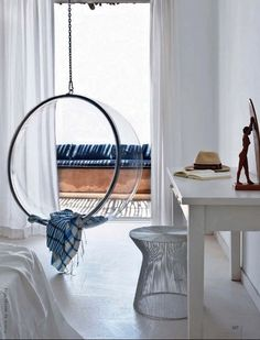 eero aarnio chair + blue hues
