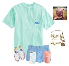 """""""Day 2-Last day of school🏫"""" by raquate1232 ❤ liked on Polyvore featuring Vineyard Vines, J.Crew, Converse, Alex and Ani, Disney, Revo and funinthesunwithmollyandellie"""