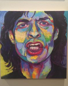Yesterday's progress on the Jagger piece. Still a lot of work to do, need to get the colors to work together better, but I'm loving the palatte knife!  #mickjagger #mick #rollingstones #hotlips #vibrantportraits #painting #simplyelizabethart #elizabethchaneypaintings #stones #art #popart #rockportrait #rockstar #symphonyforthedevil