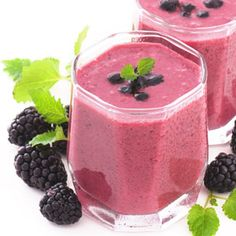 Healthy Nutty Blackberry Smoothie by realage.com: The combo of Greek yogurt and almond butter balances the sweet-tart flavor of the blackberries. (Calories: 175; Fat: 9.3g (1g sat fat); Protein: 9.6g; Carb: 16g; Fiber: 6 g; Chol: 0mg; Sodium: 57mg; Calcium: 118mg) #Smoothie #Healthy #Blackberry #realage