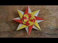 This is an easy model to fold. My video editor crashed out 5 times making this, so I am not too worried about some pa. Origami Quilt, Origami Folding, Easy Model, Christmas Origami, Star Ring, Paper Crafts For Kids, Origami Tutorial, Science Projects, Geometric Art