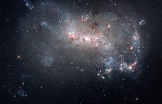 Stellar fireworks are ablaze in galaxy NGC 4449 [4000 x 2578]