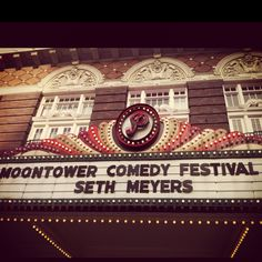 Moontower Comedy Festival Comedy Festival, Seth Meyers, Festivals, Broadway Shows, Concerts, Festival Party