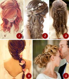 Great Hair Styles for that Out Door Wedding.