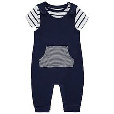 2 Piece Dungarees and Bodysuit Set | Baby | George at ASDA
