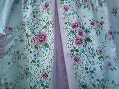 Vintage 1950s Apron/ Handmade / Pink Blue by PeachburritoVintage, $17.00