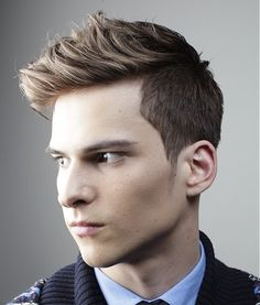 A short blonde straight coloured multi-tonal matt-look spikey hold hairstyle by L'Oreal