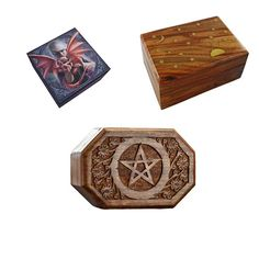 This Binding Box binds any of your spirits or spells placed in the box to all 3 of your bodies! It is a variant of the Triumvirate, but you do not have to bind spirits or spells in groups of 3 with this box.