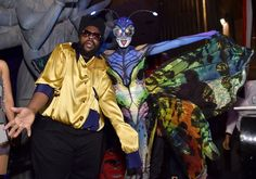 Pin for Later: Look Back at All of Last Year's Memorable Celebrity Halloween Costumes! Heidi Klum as a Butterfly With Questlove as Gordon Gartell