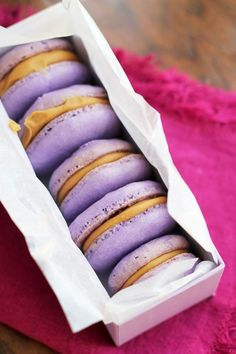 Peanut butter and jelly macarons from  Eats Well with Others