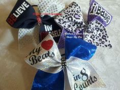 Believe in Yourself cheer bow - Be You Cheer Bow I base cheer bow My heart beats in 8 counts cheer bow