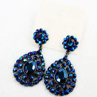 YX512  2014 new fashion Luxury full rhinestone crystal full rhinestone crystal  earring  for women