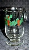 Libbey Christmas Holly Irish Coffee Mugs