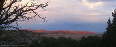 Cimarron Mesa catching the last of the sun's rays.  2014 Lif Strand