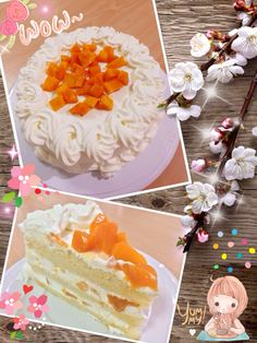 Mango short cream cake
