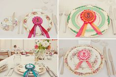 ribbon place setting