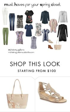 """""""Must haves for your Spring closet"""" by stylebymichele on Polyvore featuring Brahmin, CAbi, Bella Vita, Steve Madden, women's clothing, women, female, woman, misses and juniors"""