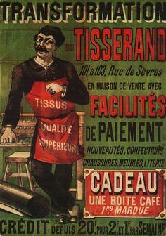vintage, cartazes do vintage, design gráfico, download gratuito, impressões retros, cartazes clássicos, a publicidade, a transformação de Tisserand, Cadeau Une Boite Cafe - propaganda do vintage
