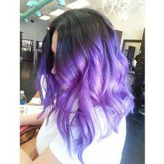Short purple Ombre