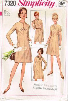 7320 Simplicity Misses' Women's' princessline dress has by Demi