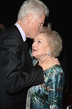 Bill Clinton and Betty White