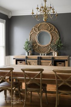 A Casual Friendsgiving Gathering {Inspiration} | The Turquoise Home Dining Room Paint Colors, Room Wall Colors, Dining Room Walls, Dining Room Design, Dark Grey Dining Room, Colorful Dining Rooms, Farmhouse Dining Rooms, Grey Kitchen Walls, Kitchen Dinning Room