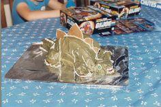 6th in Birthday Cake Creations series: dinosaur colored frosting, haha. Steg is still my favorite dinosaur.