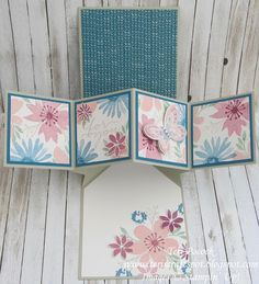Stampin' Up! - Blooms and Wishes - Pop-Up Panel Card .... Teri Pocock…
