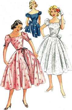 1950s Vintage Sewing Pattern Simplicity 4186 by sandritocat, $25.00