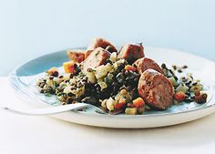 Sausage and Lentils with Fennel~