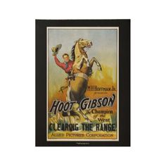Vintage Western Movie Poster 19x15 Wood Poster - western style diy unique customize stylish