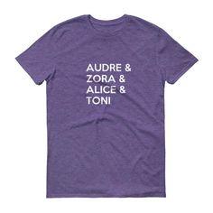 Audre, Zora, Alice & Toni Short sleeve t-shirt