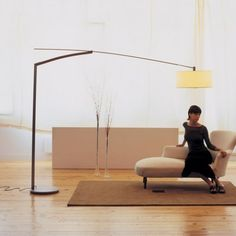 Add this multi-purpose Balance Floor Lamp by Vibia to your home setting and enjoy its benefits. It is an elegant piece of lighting that gives your home a classy look. It looks perfect with any home-décor. Halogen Lamp, Study Rooms, Modern Floor Lamps, Natural Glow, How To Look Classy, In The Heights, Flooring, Interior Design, Lighting