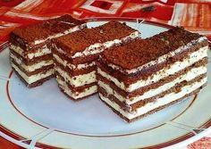 Kakaós mézes zserbó 🍩 Evo, Tiramisu, Food And Drink, Meals, Cookies, Baking, Ethnic Recipes, Kitchen, Hungary