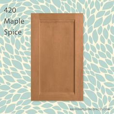 A little sweet and a little spicy! Styled with 420 Maple Spice. Maple Cabinets, Kitchen Cabinets, Cabinet Doors, Crochet Projects, Spicy, Sweet, Style, Candy, Swag