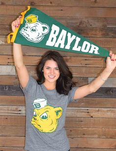 This is such a simple yet statement setting short sleeve t-shirt Show your love for your Baylor Bears Sic em Bears