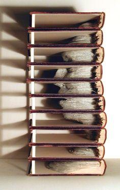 Reuse of Books = Art Inspiration green