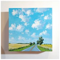 I swear I don't always paint roads. on wood panel. Small Canvas Paintings, Easy Canvas Art, Small Canvas Art, Mini Canvas Art, Easy Canvas Painting, Simple Acrylic Paintings, Empty Canvas, Road Painting, Easy Art