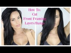 Glad I had my hair straightened! Really great tutorial | How To: Cut Your Own Front Framing Layers/Bangs at home - YouTube
