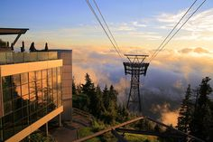 Grouse Mountain top.   North Shore, Vancouver, British Columbia, Canada.