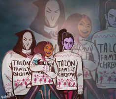 this is late but here's a talon family portrait