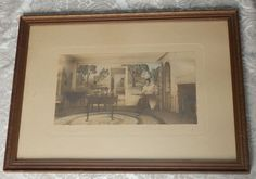 Vintage 1916 WALLACE NUTTING Framed SIGNED Print A COLONIAL CORNER Wallace Nutting, Vintage Art Prints, See Photo, Colonial, Corner, Shapes, Signs, Nice, Frame