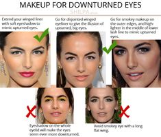 What's Your Eye Shape + Best Makeup for Your Eye Shape - Shilpa Ahuja Eyeliner For Downturned Eyes, Eyeliner For Eye Shape, Dark Smokey Eye Makeup, Eye Shape Makeup, Green Smokey Eye, Simple Eye Makeup, Eyebrow Shapes, Makeup For Round Eyes, Protruding Eyes
