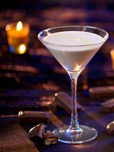Milky Way Martini ~ 1 1/2 oz. Starbucks Cream Liqueur, 1 oz. Three Olives chocolate vodka, 1/2 oz. cream