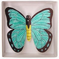 Boxed Butterfly - Art Projects for Kids Spring Crafts For Kids, Easy Crafts For Kids, Projects For Kids, Art For Kids, Project Ideas, Butterfly Project, Butterfly Art, Butterflies, Drawing Projects