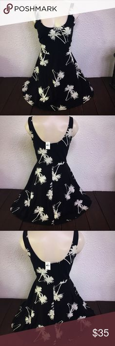 NWT PINK Victoria Secret palm tree skater dress NWT PINK Victoria Secret palm tree skater dress. Large. Brand new with tags. PINK Victoria's Secret Dresses Mini