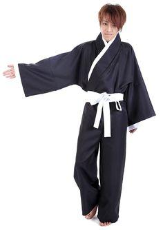 WS_COS Bleach Cosplay Kurosaki Ichigo Shinigami Black Male Kimono 3rd Set M *** Want to know more, click on the image.